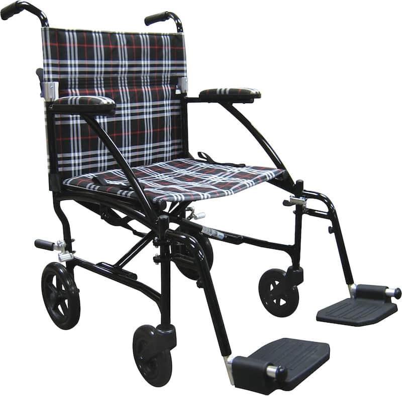 The 19 inch Fly Lite Ultra Lightweight Aluminum Transport Chair