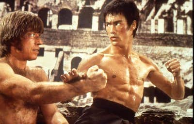 Bruce lee and Chuck Norris in The Way of the Dragon